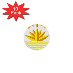 National Emblem of Bangladesh 1  Mini Buttons (10 pack)
