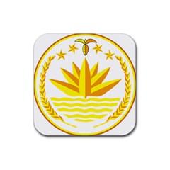 National Emblem of Bangladesh Rubber Coaster (Square)