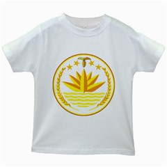 National Emblem of Bangladesh Kids White T-Shirts