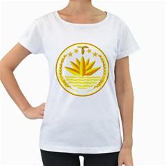 National Emblem of Bangladesh Women s Loose-Fit T-Shirt (White)