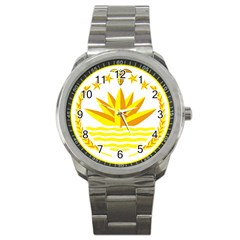National Emblem of Bangladesh Sport Metal Watch