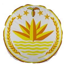 National Emblem of Bangladesh Large 18  Premium Flano Round Cushions
