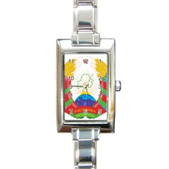 Coat of Arms of The Republic of Belarus Rectangle Italian Charm Watch