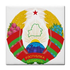 Coat of Arms of The Republic of Belarus Tile Coasters