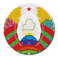 Coat of Arms of The Republic of Belarus Round Mousepads