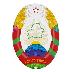 Coat of Arms of The Republic of Belarus Ornament (Oval)