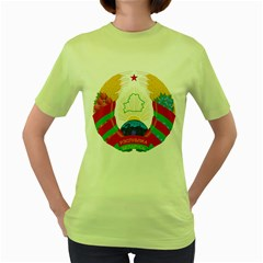 Coat of Arms of The Republic of Belarus Women s Green T-Shirt