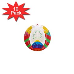 Coat of Arms of The Republic of Belarus 1  Mini Magnet (10 pack)