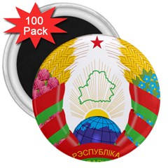 Coat of Arms of The Republic of Belarus 3  Magnets (100 pack)