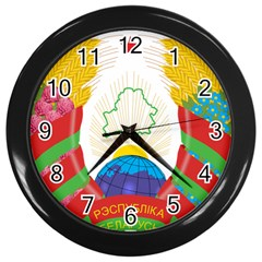 Coat of Arms of The Republic of Belarus Wall Clocks (Black)