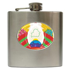 Coat of Arms of The Republic of Belarus Hip Flask (6 oz)