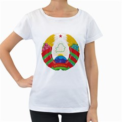 Coat of Arms of The Republic of Belarus Women s Loose-Fit T-Shirt (White)