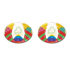 Coat of Arms of The Republic of Belarus Cufflinks (Oval)
