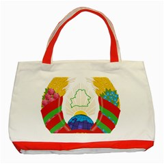 Coat of Arms of The Republic of Belarus Classic Tote Bag (Red)