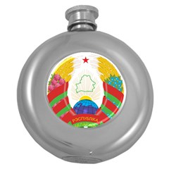 Coat of Arms of The Republic of Belarus Round Hip Flask (5 oz)