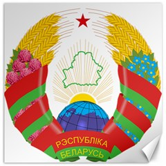 Coat of Arms of The Republic of Belarus Canvas 16  x 16