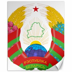 Coat of Arms of The Republic of Belarus Canvas 16  x 20