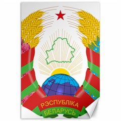 Coat of Arms of The Republic of Belarus Canvas 20  x 30