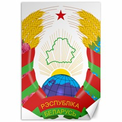 Coat of Arms of The Republic of Belarus Canvas 24  x 36