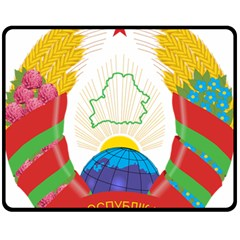 Coat of Arms of The Republic of Belarus Fleece Blanket (Medium)