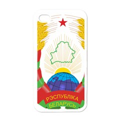 Coat of Arms of The Republic of Belarus Apple iPhone 4 Case (White)