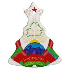 Coat of Arms of The Republic of Belarus Christmas Tree Ornament (2 Sides)