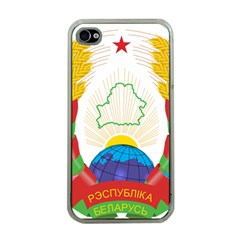 Coat of Arms of The Republic of Belarus Apple iPhone 4 Case (Clear)