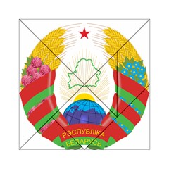 Coat of Arms of The Republic of Belarus Acrylic Tangram Puzzle (6  x 6 )