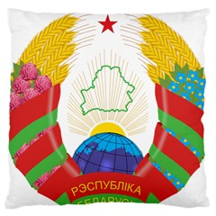 Coat of Arms of The Republic of Belarus Large Cushion Case (Two Sides)