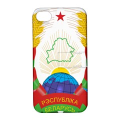 Coat of Arms of The Republic of Belarus Apple iPhone 4/4S Hardshell Case with Stand