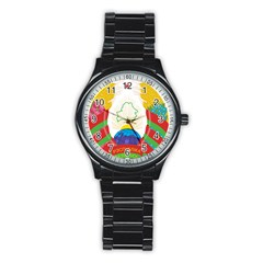 Coat of Arms of The Republic of Belarus Stainless Steel Round Watch