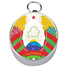 Coat of Arms of The Republic of Belarus Silver Compasses