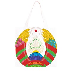 Coat of Arms of The Republic of Belarus Grocery Light Tote Bag