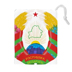 Coat of Arms of The Republic of Belarus Drawstring Pouches (Extra Large)