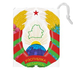 Coat of Arms of The Republic of Belarus Drawstring Pouches (XXL)