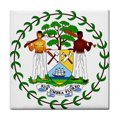 Coat of Arms of Belize Tile Coasters