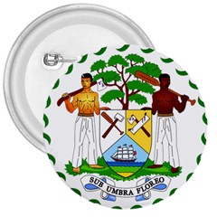 Coat of Arms of Belize 3  Buttons