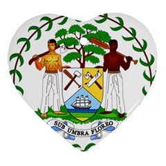 Coat of Arms of Belize Ornament (Heart)