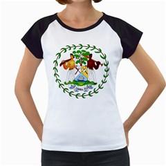 Coat of Arms of Belize Women s Cap Sleeve T