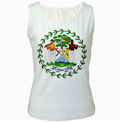 Coat of Arms of Belize Women s White Tank Top