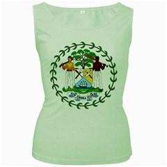 Coat of Arms of Belize Women s Green Tank Top