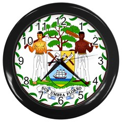 Coat of Arms of Belize Wall Clocks (Black)