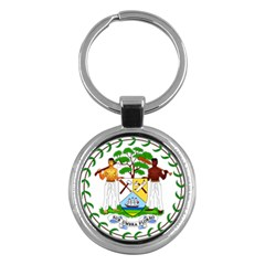 Coat of Arms of Belize Key Chains (Round)