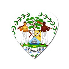 Coat of Arms of Belize Heart Magnet