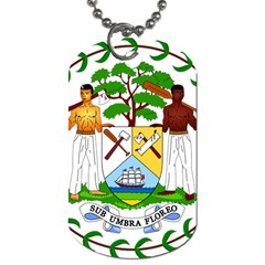 Coat of Arms of Belize Dog Tag (One Side)