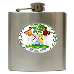 Coat of Arms of Belize Hip Flask (6 oz)