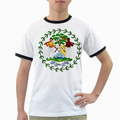 Coat of Arms of Belize Ringer T-Shirts