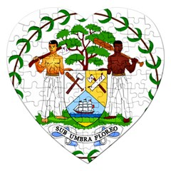 Coat of Arms of Belize Jigsaw Puzzle (Heart)