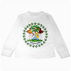 Coat of Arms of Belize Kids Long Sleeve T-Shirts