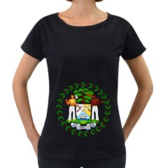 Coat of Arms of Belize Women s Loose-Fit T-Shirt (Black)